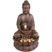Ball Outdoor Fountain - Alpine Corporation Outdoor Meditating Buddha Fountain