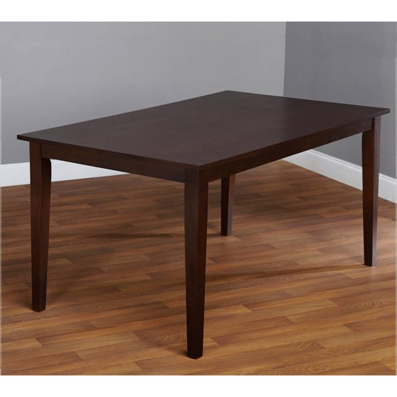 Contemporary large dining table espresso for Large contemporary dining table