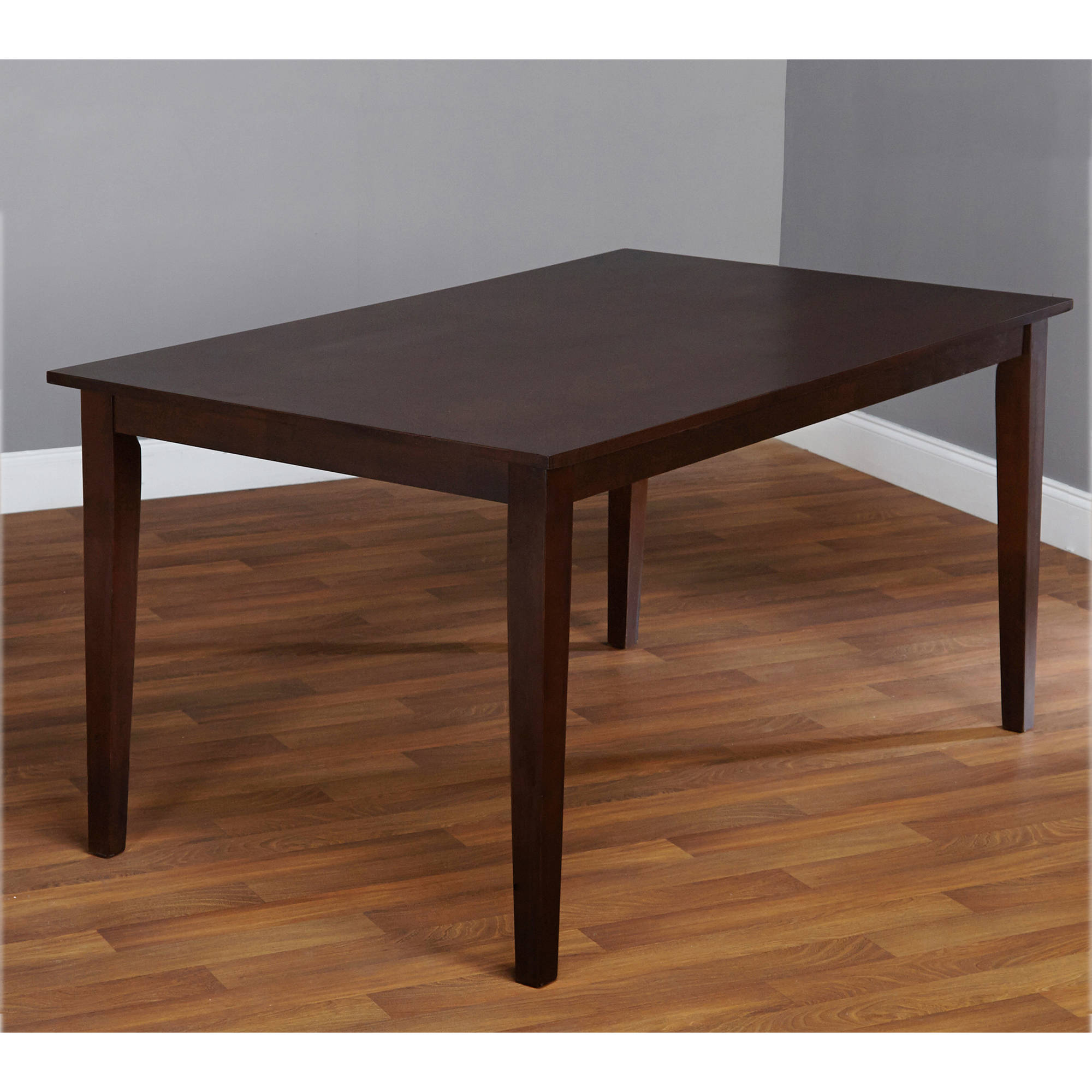 Contemporary Large Dining Table, Espresso