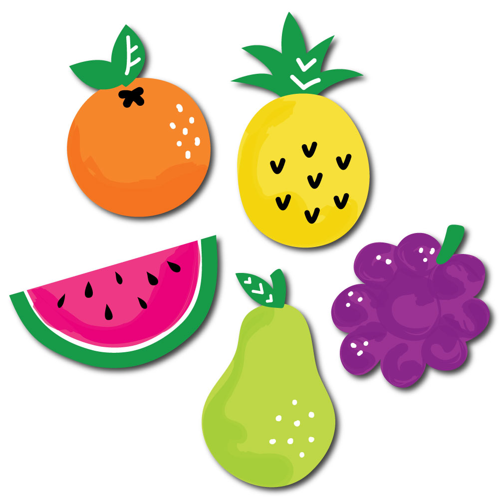 Tutti Fruity - DIY Shaped Frutti Summer Baby Shower or Birthday Party Cut-Outs - 24 Count