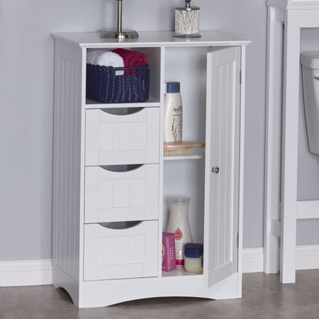 River Ridge Collection (RiverRidge Ashland Collection - 1-Door, 3-Drawer Floor Cabinet - White)