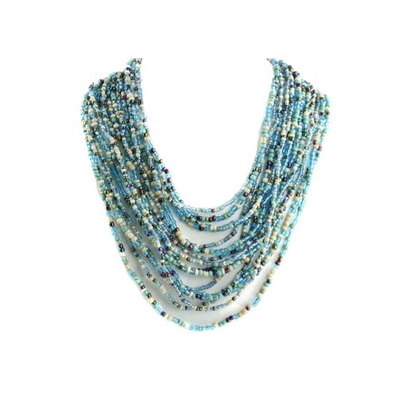 Fashion Hand Made Multi Strand Seed Bead Necklace Tribal Style Necklace
