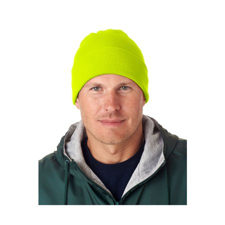 UltraClub Men's Knit Beanie with Cuff, Style -