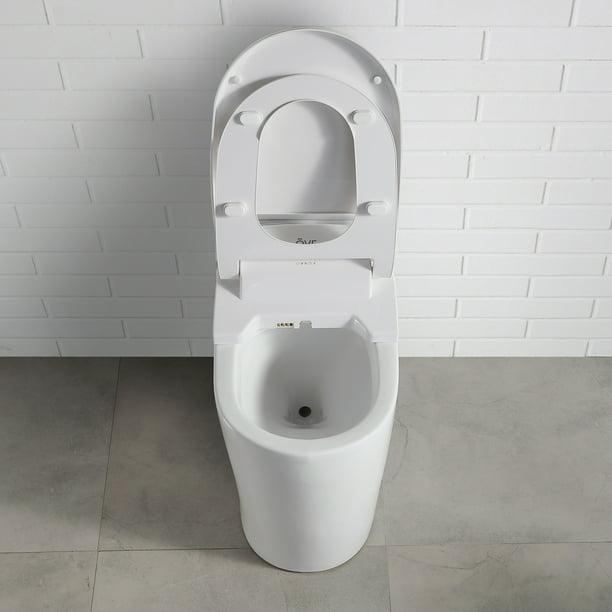 Ove Decors Vanda Plastic Elongated Slow Close Heated Bidet Toilet Seat Walmart Com Walmart Com
