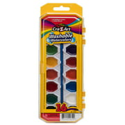 RoseArt 16-Color Washable Watercolors with Brush, 6 / Box (Quantity)