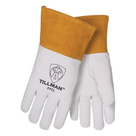 Tig Welders Glove (Tillman Medium Pearl Top Grain Kidskin Unlined Premium Grade TIG Welders Gloves With Straight Thumb, 4'' Cuff And Kevlar Lock)