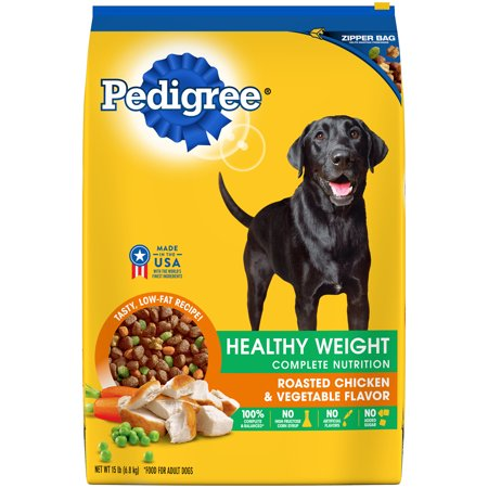 PEDIGREE Healthy Weight Roasted Chicken and Vegetable Flavor Dog Food, 15.61 Lb (Healthy Dog)