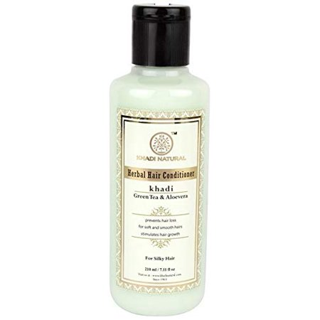 Khadi Natural Ayurvedic Greentea Aloevera Hair Conditioner, 210ml Ayurvedic Hair Care