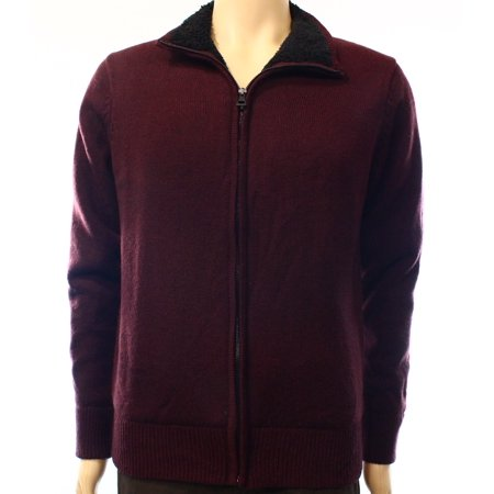 Weatherproof New Red Mens Size Small S Full Zip Sherpa Lined Sweater