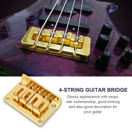 yosoo durable 4 string fixed bridge replacement parts for cigarbox electric guitars bass ukulele. Black Bedroom Furniture Sets. Home Design Ideas