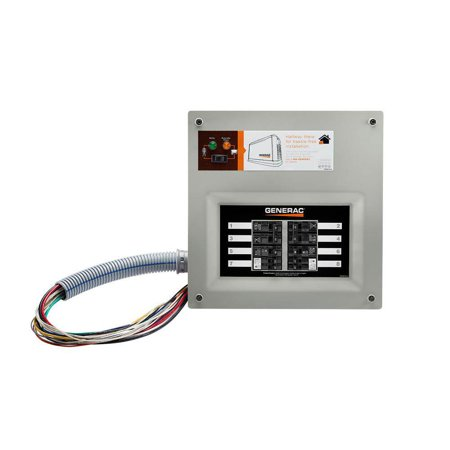 Generac Upgradeable 50 Amp Manual Transfer Switch Kit for 8 to 10 Circuits - image 2 of 4