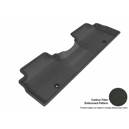 3D Maxpider 2014 2017 Kia Soul Second Row All Weather Floor Liner In Black With Carbon Fiber Look