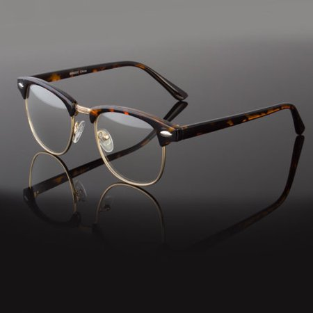 Clear Lens Fashion Glasses Retro Horn Rim Nerd Geek Men Women Hipster Eye (Clear Lens Hipster Glasses)