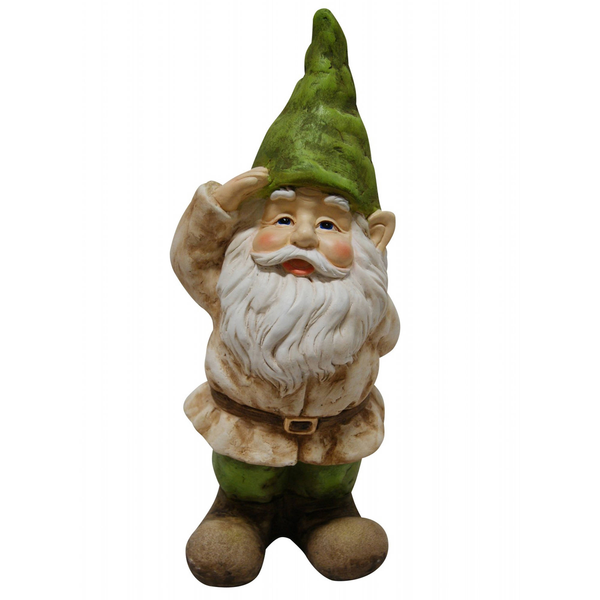 Gnome Saluting Statue by Alpine Corp
