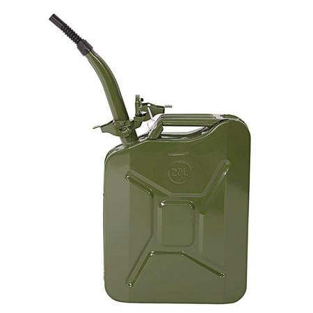Ktaxon Portable 20 Liter Steel Metal Gas Gasoline Diesel Petrol Oil Fuel Jerry Cans Caddy Tank Storage