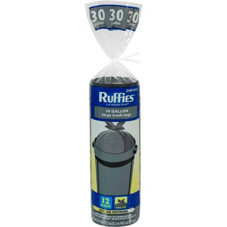 4 Large Bags - (4 Pack) Ruffies Large Trash Bags, 30 gallon, 12 count