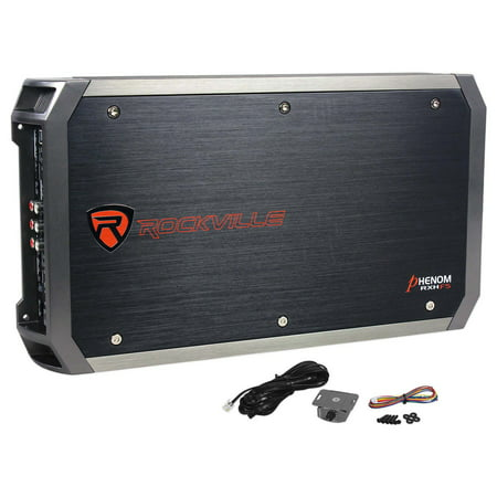Rockville RXH-F5 3200 Watt Peak/1600w RMS 5 Channel Amplifier Car Stereo (3200 Peak Amps)