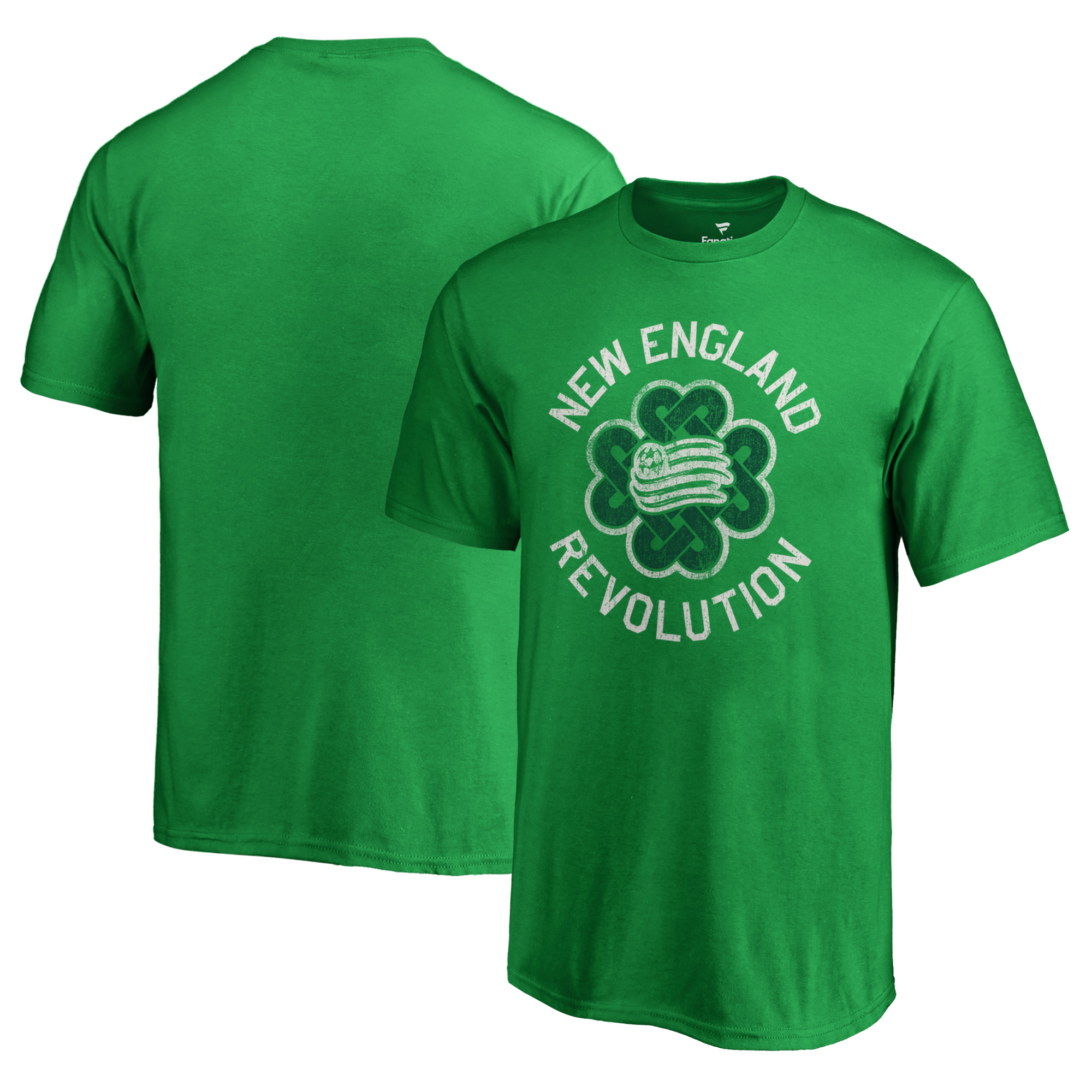New England Revolution Fanatics Branded Youth St. Patrick's Day Luck Tradition T-Shirt - Kelly Green