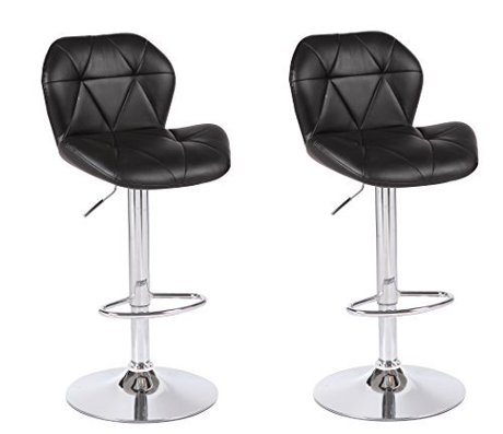 viscologic series dream height adjustable swivel 24 to 33 inch bar stool set of 2 stools. Black Bedroom Furniture Sets. Home Design Ideas