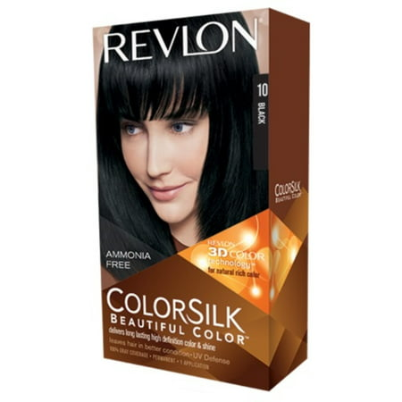 Revlon Colorsilk Beautiful Color Permanent Hair Color Black 10