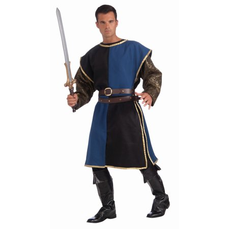 Halloween Medieval Tabard - Blue/Black Adult Costume - Black Leotard Halloween Costumes