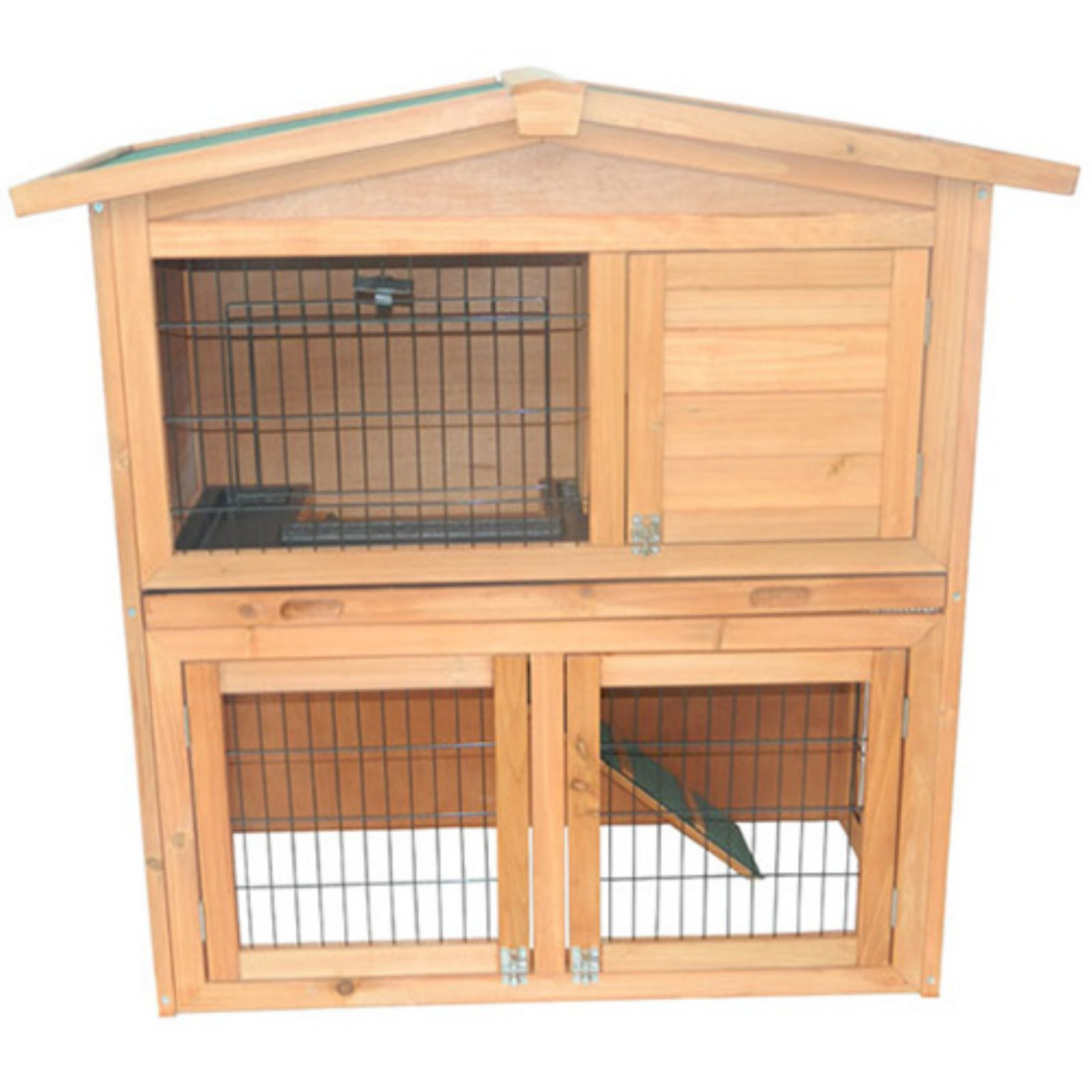 Pawhut 40 in. Wooden Rabbit Hutch/Small Animal House Pet Cage