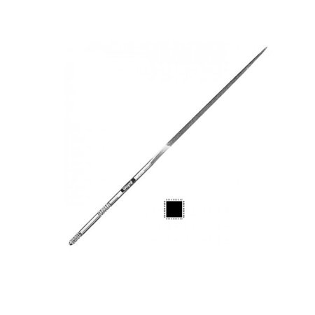 "Relentless Needle File Square Cut 0 Long 6-1/4"" Jewelry Tool Made in Europe - Files Square Cut"