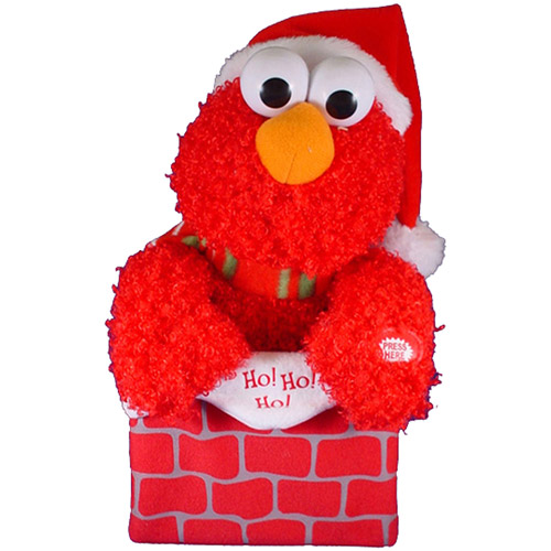 Kurt Adler Sesame Street Battery-Operated Singing Elmo in Chimney