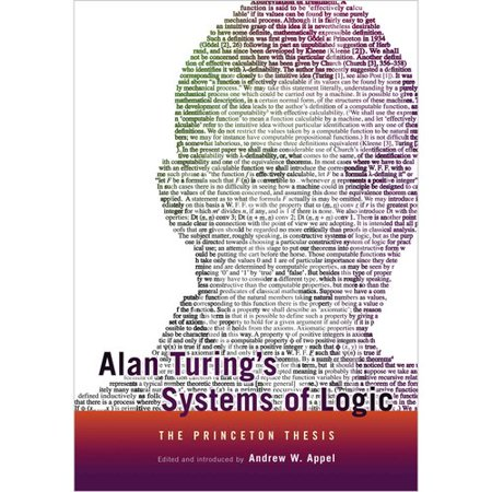 Alan Turings Systems Of Logic  The Princeton Thesis