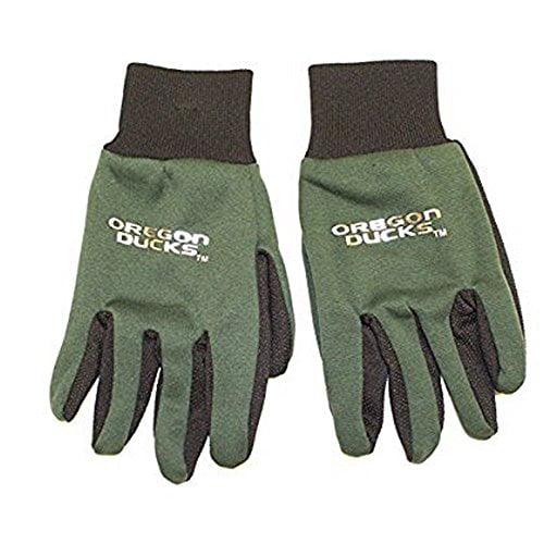 NCAA Officially Licensed Silver Logo Sport Utility Work Gloves (Oregon Ducks)
