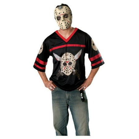 Licensed Adult Friday The 13Th Jason Voorhees Horror Movie Mask & - Jason Voorhees Part 7 Costume