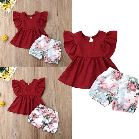 Newborn Baby Girl Summer Outfit Set Clothes Princess Dress+Pants Shorts](Baby Girl Princess Outfit)