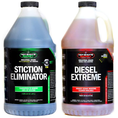 - Hot Shot's Secret Diesel Duo 2QTS of Stiction Eliminator Oil Additive. 2QTS of Diesel Extreme Fuel Additive