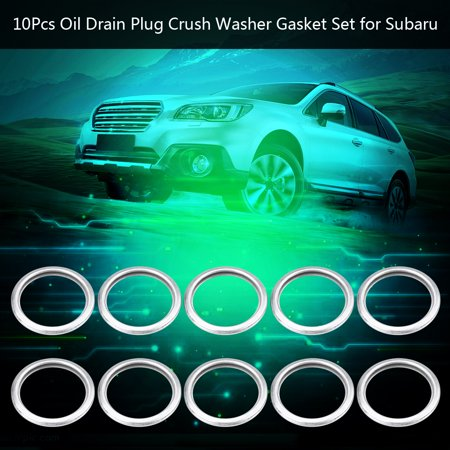 Scion Oil Drain Plug Gasket - 10Pcs Oil Drain Plug Crush Washer Gasket Set for Subaru 1985-2018 11126AA000, Oil Drain Plug Washer, Plug Washer