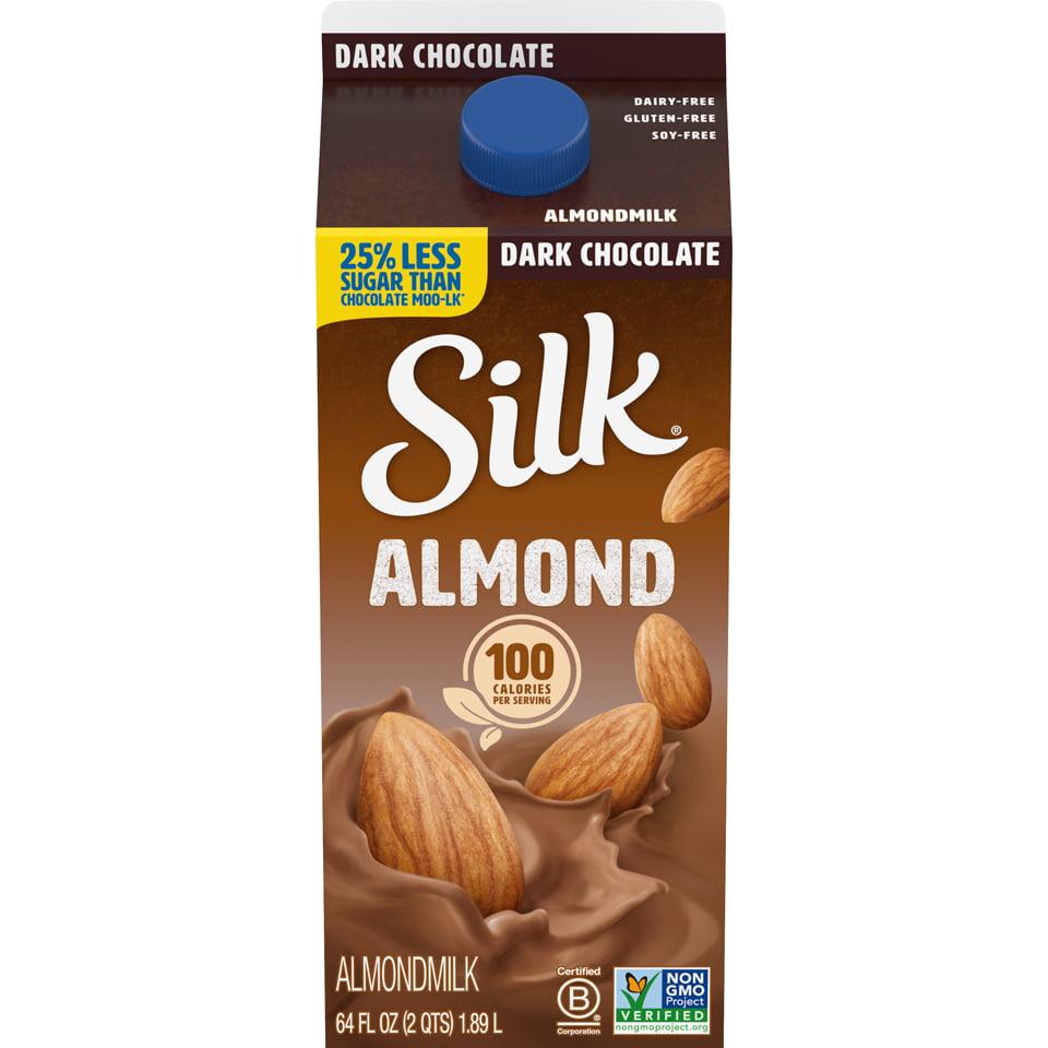 Silk Almond Dark Chocolate Almond Milk - 0.5gal