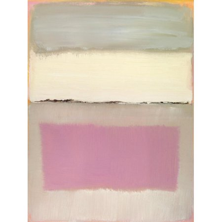 Original Contemporary Abstract Painting - Twilight I Pink Contemporary Abstract Expressionist Painting Print Wall Art By Caroline Gold