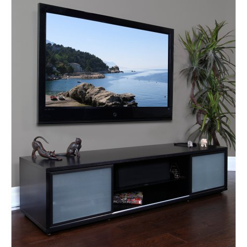 Plateau SRV Series 75 Inch TV Stand in Black