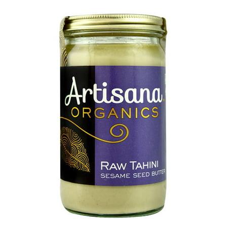 Organic Sesame Butter - Artisana Organics Raw Tahini Sesame Seed Butter -- 14 oz pack of 2
