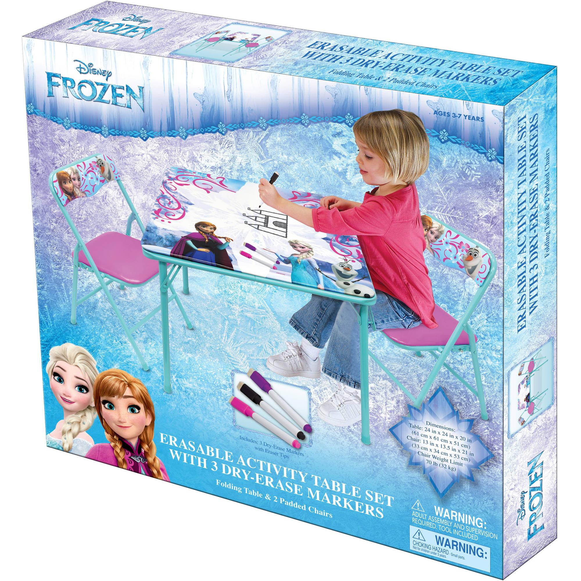Disney Frozen Erasable Activity Table Set - Walmart.com