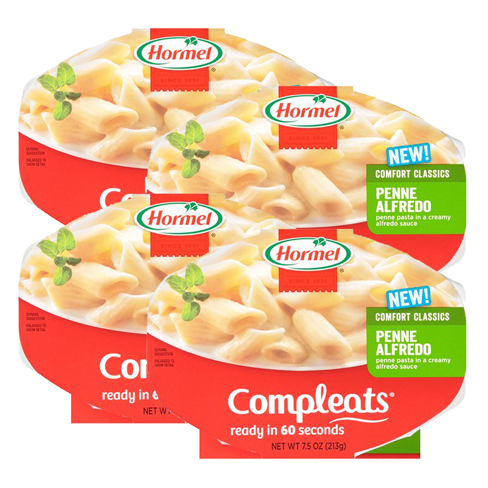 (4 Pack) Hormel Compleats Penne Alfredo, 7.5 Ounce