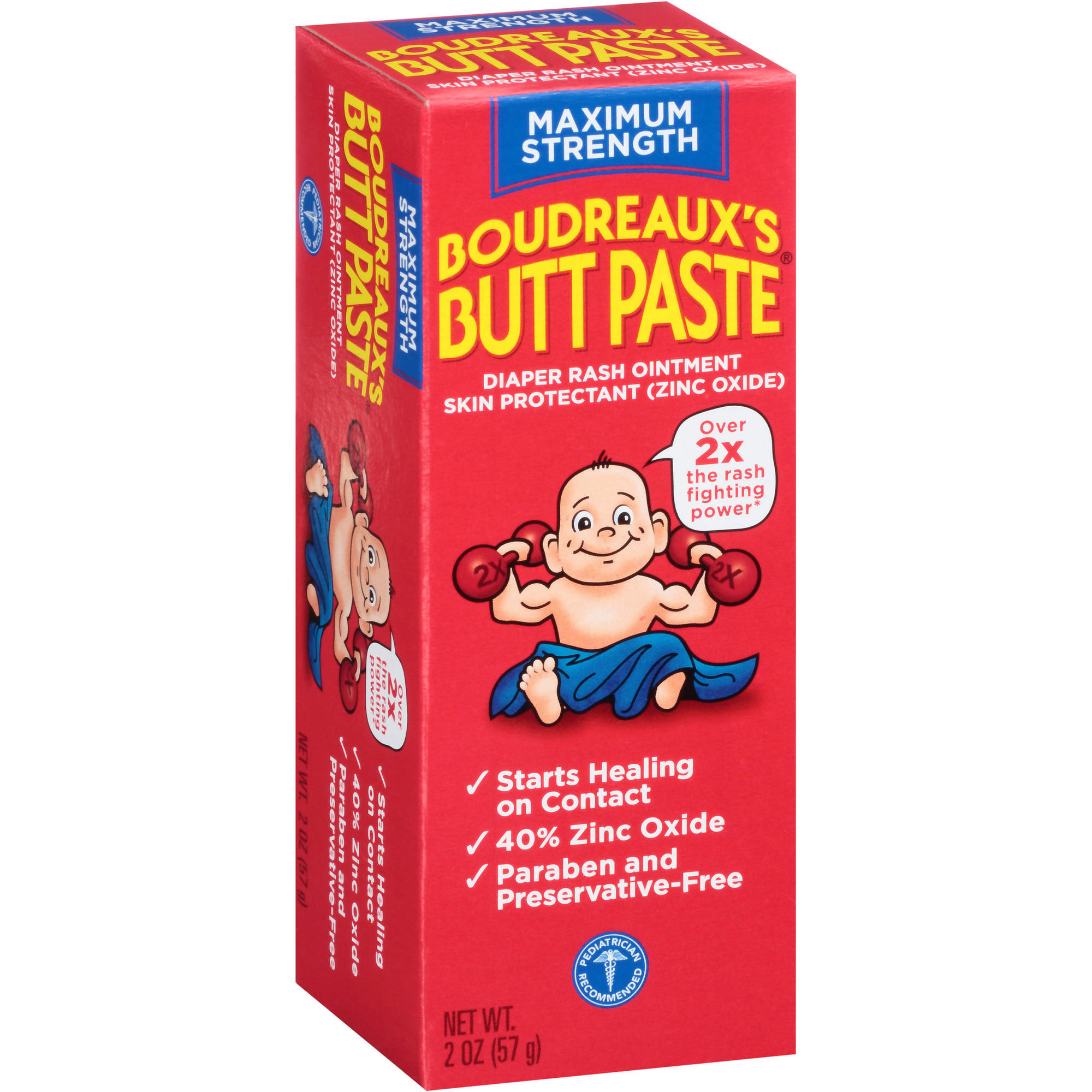 Boudreaux's Butt Paste Diaper Rash Ointment, 2 oz