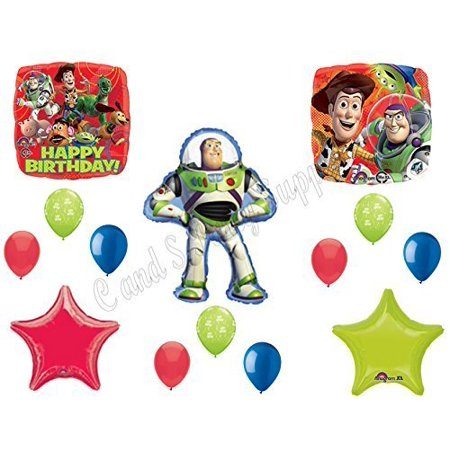 TOY STORY BUZZ Lightyear Birthday party Balloons Decoration Supplies Woody 14 pc by Anagram - Woody Birthday Party Supplies