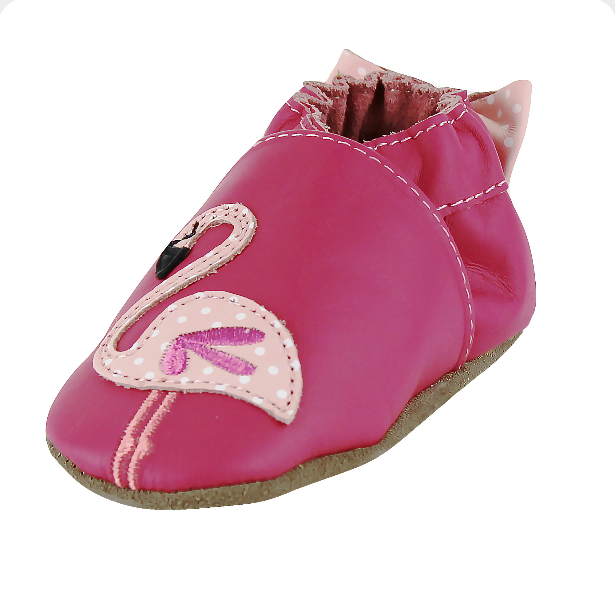 Robeez Baby Girls Pinky The Flamingo Prewalker Leather Baby Shoes Crib Shoes  18-24 Months Pink Soft Sole Sneakers - Walmart.com 6db0f3565