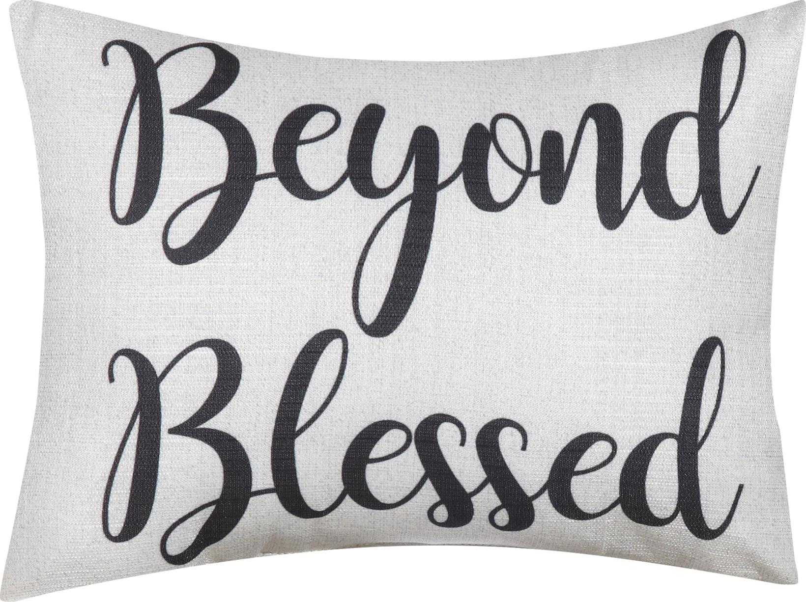 Mainstays Beyond Blessed Decorative Throw Pillow 12 X 16 Walmart Com Walmart Com