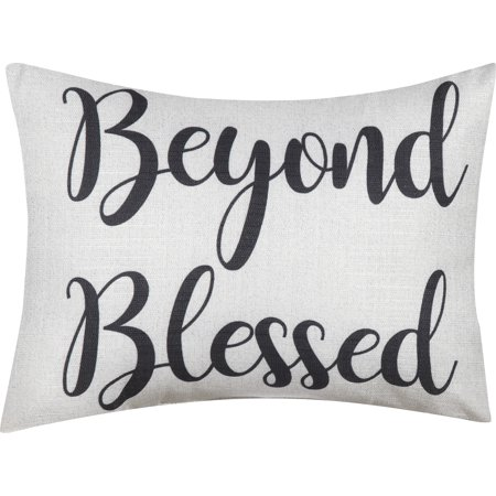 Black Pillow Boxes (Mainstays Beyond Blessed Decorative Throw Pillow, 12