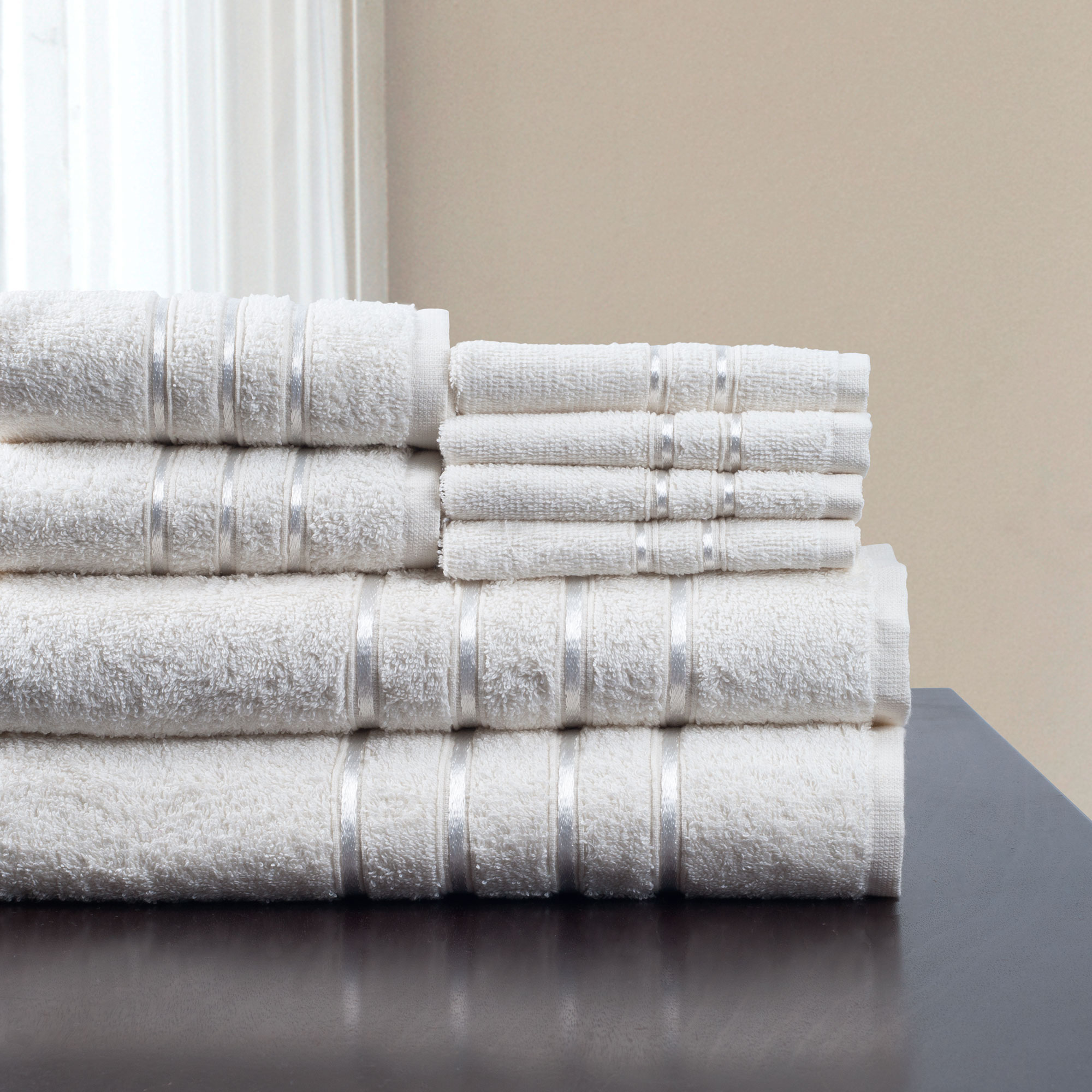 8-Piece 100% Cotton Plush Bath Towel Set by Somerset Home