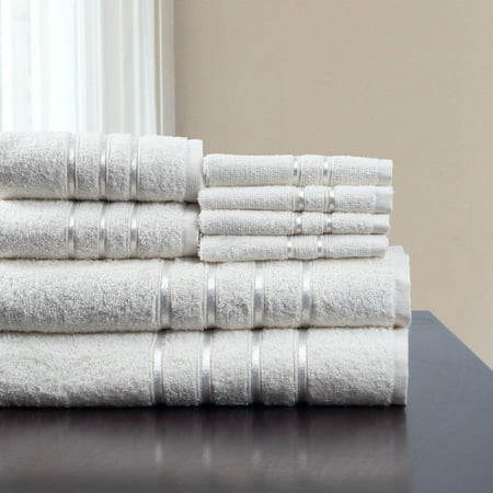 8-Piece 100% Cotton Plush Bath Towel Set by Somerset Home (Ocean Theme Towel Set)
