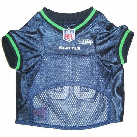 Pet Trim - Seattle Seahawks Dog Jersey - Green Trim Small
