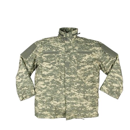 - Digital Camouflage Ultra Force Army M-65 Field Jacket to Match the ACU - Large