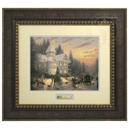 Thomas Kinkade Victorian Christmas - Prestige Home Collection (Bronzed Gold Frame) ()